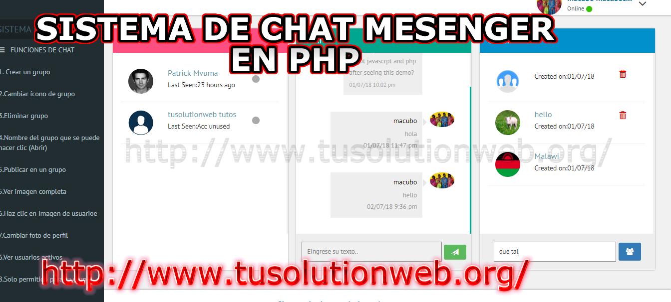 Download mysql chat php Chat Application