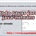 gauss jordan java code