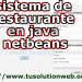 restaurant management system project in java source code