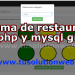 restaurant management system project in php